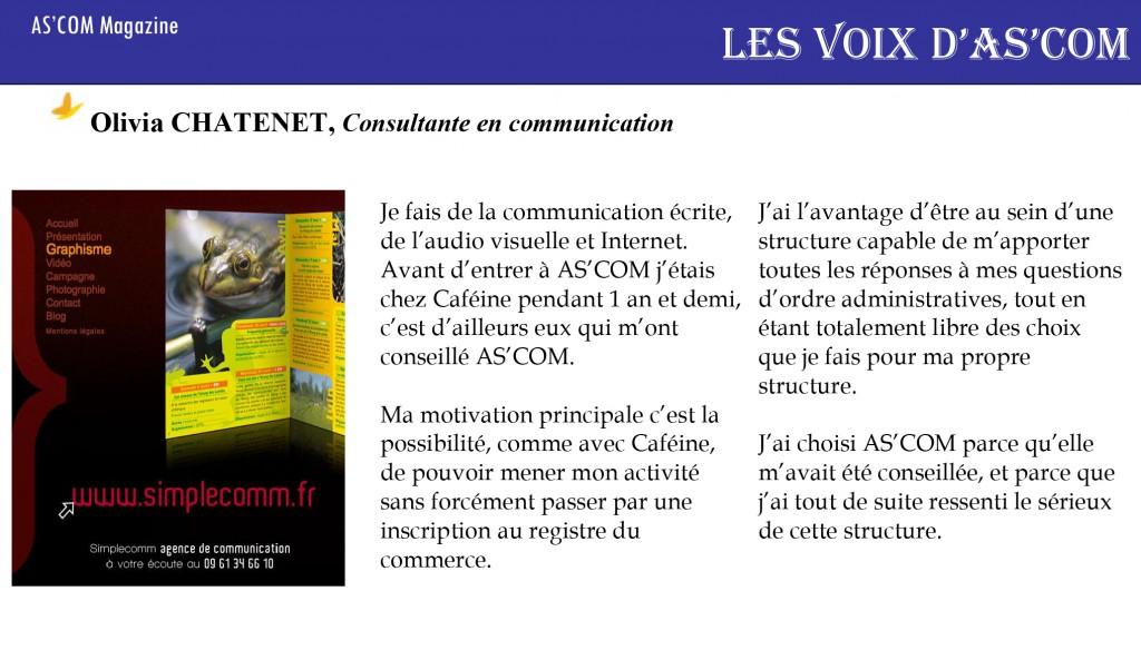 article presse olivia consultante